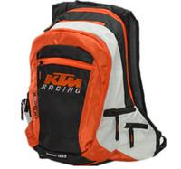 motosiklet seyahat sırt çantası toptan satış-KTM Sırt Çantası Eğlence seyahat çantası için ücretsiz nakliye Motosiklet yarış sırt çantası Çok Fonksiyonlu motocross sırt çantası 2 Renkler