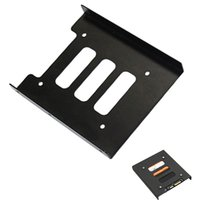 Wholesale Hard Drive Mounting Screws - Wholesale- 2.5 inch SSD HDD to 3.5 inch Mounting Adapter Bracket Dock Hard Drive Holder for PC Desktop with 8 pcs Screws