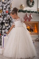 Wholesale Most Beautiful Princess Wedding Dresses - 2017 New Listing Custom Made Little Princess Most Beautiful Top Quality Holy Dresses Flower Girl Dresses Pageant Gowns Communion Skirt
