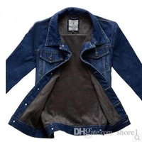 Wholesale New Age Clothing - In the winter of 2016 men plus denim jacket cashmere coat coat jacket thick warm middle-aged new winter clothes