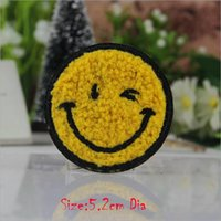Wholesale Clothing Fabric For Babies - 10pcs Emoji Smile Face Patch For Clothing Iron On Patches parches ropa Embroidered Jacket Jeans Fabric Patchwork Baby Motif Badge Appliques