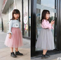 Wholesale Toddler Long Tutu Skirts - Baby girls princess Full skirts Toddler kids tulle long TUTU skirt fashion children All-match skirts 2017 new Autumn kids clothes G0600