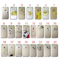 Wholesale Case Iphone Dogs - Pokemons Pikachue Pocket Angry Marios Dinosaur Dogs Cat Rabbit TPU Case for iPhone 6 6s 7 Plus 5s 5C GALAXY S8 S7 S6 EDGE Case