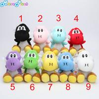 ingrosso bambole yoshi-Super Mario Bros Nuovo 7 pollici yoshi Plush Doll Figure Toy 9 colori yoshi verde nero rosso morbido giocattoli farciti bambola