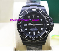 Wholesale Luxury Pvd Mens - Luxury Brand NEW MENS STAINLESS STEEL PVD Coating CERAMIC BLACK Dial #116610LN 44MM Mechanical Men Watches Top Quality