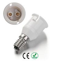 ingrosso presa di base della lampadina e14-E14 a B22 Portalampada Portalampada Base adattatore Materiale ignifugo Lampada alogena a LED Adattatore per luce, 10 Pz / lotto