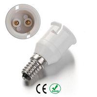 b22 ampul tabanı toptan satış-E14 B22 Lamba Soket Ampul Tutucu Adaptörü Bankası Yanmaz Malzeme Halojen LED Işık Adaptörü Dönüştürücü, 10 Adet / grup