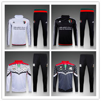 Wholesale Men Cotton White Suit - Football Jerseys Palestine white sweater tracksuit Sportswear training Suits mens Clothes Tracksuits Male Hoodies mix order free shipping