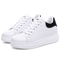Wholesale White Ladies Cheap Shoes - Cheap Wholesale Increase Walking Lady Leisure White Shoes Super Hot PU Leather Solid Women Pantshoes Free Shipping YonDream-415
