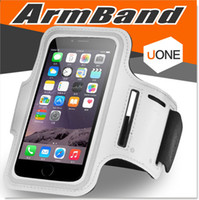 Wholesale Mobile Phone Armband Pouch - For Iphone 7 6 6s Plus Armband case Waterproof Sports Running Case bag workout Armbands Holder Pounch For Samsung Cell Mobile Phone