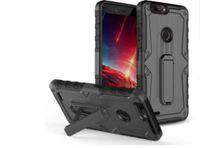 yeni zte telefonlar toptan satış-LG K10 Kickstand Ile sert Arka Kapak 2017 / Stylo3 / Aristo Aristo 2 ZTE Avid 4 Metropcs PC + Silikon + TPU Yeni Stiller telefon kılıfı