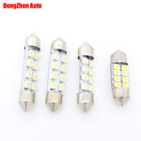 Wholesale Led Dome Lamp Bulbs - Dongzhen White 12v 24v 31 36 39 41MM 8 3528 LED License Plate Light C5W C10W Car Festoon Dome Light Reading Interior Lamp SV8,5 Work Bulb