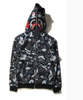 Wholesale Hoodies Full Collar - Winter Mens bapA males full zipper luminous hoodie camouflage Army Military fleece hooded sweatshirts winter mens camo jackets