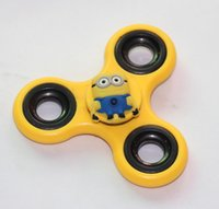 Wholesale Plastic Minions - New two eyes minion fidget spinner anime pattern plastics and metal Hand Spinner three -leaf Fingertip gyro decompression gyroscope