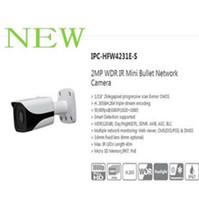 Wholesale Security Camera S - Free Shipping DAHUA NEW Security IP Camera 2MP WDR IR Mini Bullet Network Camera IP67 With POE Without Logo IPC-HFW4231E-S