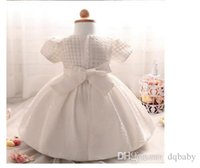 Wholesale Korean Cute Wedding Dresses - New Girls Tutu Princess Dress Korean Style Children Lace Tulle Dresses Kids Summer Cake Party Dress Cute Baby Girl Dress