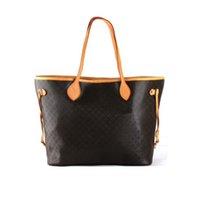 Wholesale black plaid bag resale online - Female tote Orignal oxidation leather shoulder bag fashion handbags presbyopic women s shopping bag purse designer messenger bag