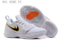 Wholesale Bait Boxes - Free Shipping Mens 2017 PG1 Home PE Hickory Pre Heat The Bait and More PG 1 PE Sneakers Size 7-12 Come With Box