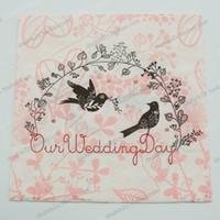 Wholesale Bird Paper Napkins - Wholesale- Napkin paper decoupage,100pcs 33cm,2015 new design napkin for Wedding Party,Wedding love birds Decoration,event&party supplies