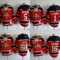 Wholesale Hockey Hooded Sweatshirts - 2018 Florida Panther Hoodies Jerseys 68 Jaromir Jagr 5 Aaron Ekblad 16 Barkov Hooded 1 Roberto Luongo Hockey Hooded Sweatshirt Jersey