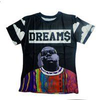 Wholesale Biggie Shirt Women - Wholesale-Raisevern new fashion 2015 3D casual T shirt tops short sleeve t-shirt Nutella Tupac Biggie Adventure time cartoon tees top