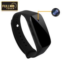 Wholesale Spy 1pcs - 1pcs 1080P Smart Watch Rubber Bracelet Spy Hidden Camera Mini Video Recorder DVR Cam New Free Shipping