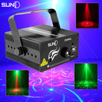 Wholesale Blue Laser Light Projector - Wholesale-Suny RGB Mini 3 Lens 40 Patterns Mixing Laser Projector Effect Stage Remote 3W Blue LED Light Show Disco Party Lighting
