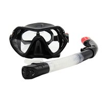 Wholesale Wholesale Dive Gear - Professional Snorkeling Equipment Scuba Silicone Diving Gear And Dry Snorkel Set Silicone Face Skirt And Strap NON-TOXIC