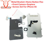 Wholesale Iphone Full Screws - For iphone 6s full set lcd parts Metal Bracket Home Button Flex Front Camera Earpiece Screws Display Touch Screen Digitizer Complete Parts