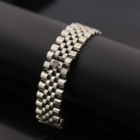 Wholesale Rose Ring Watch - ooWide Watch Chain Imperial Crown Bracelets Bangles For Men 316L Stainless Steel 18K Yellow Rose Gold Plated Luxury Designer Fashion Jewelry