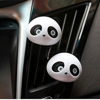 2Pcs Air Freshener Lovely Mini Panda Parfum Parfum Fragrant Flavour Diffuseur pour Auto Car Dashboard Vehicle 6 Color