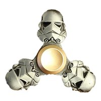 Wholesale New Hasbro Toy - 2017 New Fidget Hasbro Toy Top Quality Star Wars Dark Warrior Alloy Metal Hand Spinner Finger Tri-spinner Classic Toys