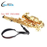 Wholesale Sax Pads - Wholesale- Adjustable Saxophone Sax Neck Strap Cotton and Nylon Strap Padded with Hook Clasp Light-weight and Compact