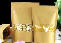 Qin.01.19 / 20 * 30 + 5cm Semi di caffè Dolci Ziplock Guarnizione Kraft Paper Bag Finestra Stand Up Custodia Sealable