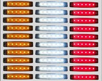 Wholesale Wholesale Clearence - 30Pcs 6LED Rear Side Marker Indicators Light Clearence BOAT BUS Truck Trailer