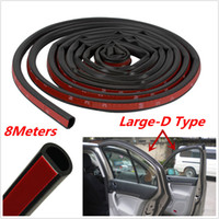 Wholesale 8M Big D Shape Car Door Window Trim Edge Moulding Rubber Weatherstrip Seal Strip