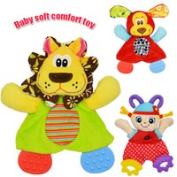 Atacado- Baby Infant Soft Appease Brinquedos Toalha Playmate Calm Doll Teether Developmental Toy Lion Dog