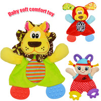 Wholesale Dog Towel Toy - Wholesale- Baby Infant Soft Appease Toys Towel Playmate Calm Doll Teether Developmental Toy Lion Dog