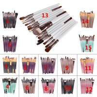 Wholesale Eyebrow Make - Hot sell 15Pcs Professional Make up Brushes Set Foundation Blusher Powder Eyeshadow Blending Eyebrow Makeup Brushes VS Kylie Lip Kits