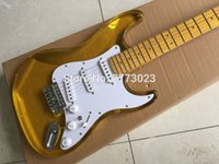Wholesale Crystal Electric Guitar - Yellow transparent acrylic crystal ST electric guitar, LED lamp can be installed, the factory wholesale and retail