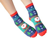 Wholesale Sock Snowman Pattern - Wholesale- Korean Harajuku Women and Men Cartoon Tube Socks Funny Japanese Christmas Snowman Pattern Socks Cotton Sock #OR