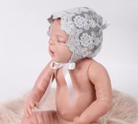 Wholesale Lace Headbands Caps - Baby Infant Newborn Girls Kids Lace Floral Hat Cap Beanie Bonnet Hats YH638