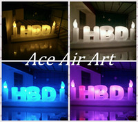 """Wholesale Cake Decorations China - Beautiful giant Birthday decorations inflatable LED Letter """"Happy Birthday""""for cake shops made in China can be custom"""