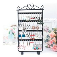 black hole jewerly - Earrings Display Hole Rack Stand Holder Jewerly Metal Base Black BS88