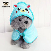 Wholesale Brand New Cute Cartoon Dog Pajamas Clothes Warm Sleeping Pomeranian Soft Bathrobe Clothing Puppy Absorbent Bath Towel Blanket