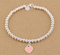 boncuklu mücevher satışı toptan satış-2017 Sıcak satış EN KALITELI 925 ayar gümüş Boncuklu Bilezik bilezikler Kadınlar Takı Tırnak Manşet Aşk Bileklik Ücretsiz kargo