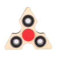 Wholesale focus diy - 3 Angle Wooden Fidget Hand Spinner Triangle DIY Wooden Puzzle Finger Toy EDC Focus Toys ADHD Austim Learning &Educational Toy