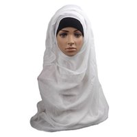 Wholesale S5Q Women s Viscose Solid Color Turban Shawl Premium Quality Wrap Hijab Scarf AAAGGD