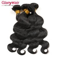 Barato China Por Atacado Virgem Brasileira-Atacado Hot Selling Brazilian Virgin Hair Weave Bundles Peruvian Body Wave Cabelo humano Tramatura 4ps Cheap Remy Hair Produtos ondulados feitos na China