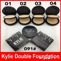 Wholesale High Press - Kylie Pressed Face Powder Foundation Double Layer Bronzer Brands Kylie Jenner Cosmetics Face Makeup 4 Colors 30G High Quality